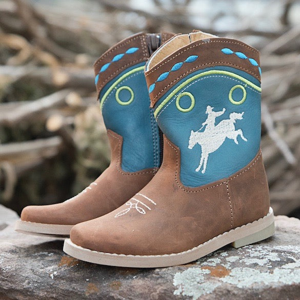 """Syd"" Bucking Horse Toddler Boots"