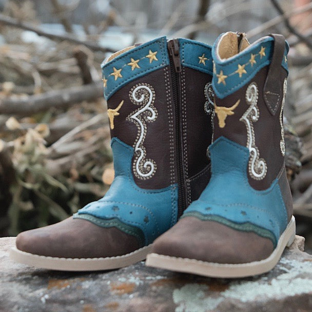 """Nash"" Longhorn Toddler Boots"
