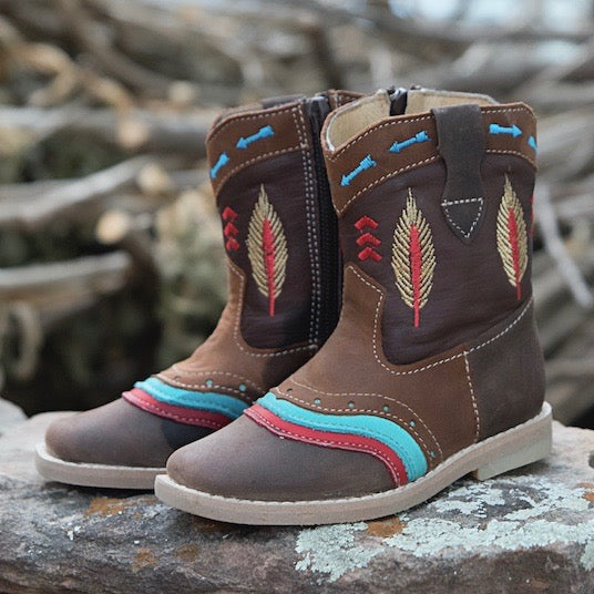 """Maddox"" Indian Toddler Boots"