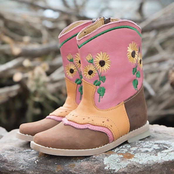 """Sophie"" Sunflower Toddler Boots"