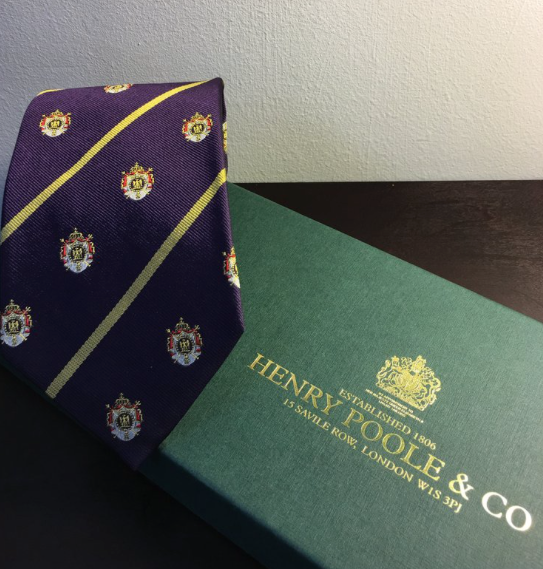 6c87a24112f1 Henry Poole & Co Napoleonic Burgundy Crested Tie - Crofton and Hall