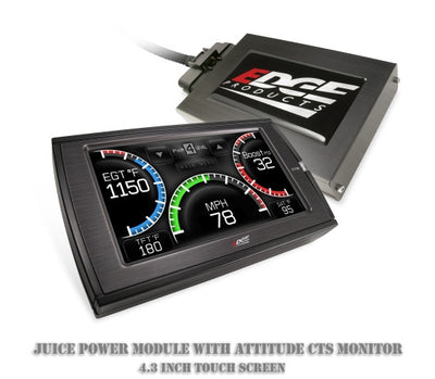 1999-2003 FORD POWERSTROKE (7.3L) Edge Juice Power Module with Attitude CTS Monitor (Large 4.3 inch Hi-Resolution Color TOUCH Sc