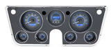 1963- 72 Chevy Pickup VHX Instrument Cluster: Digital Clock / Carbon Fiber Face, Blue Backlight