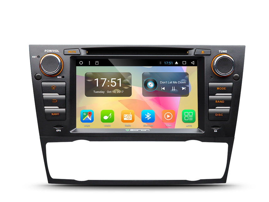 "GA8165A  (OCTA CORE) Android 7.1 Direct Fit Head-Unit for e90/e91/e92/e93 BMW 3-Series (05-11):  7"" Touch Screen / Screen Mirroring / DVD / GPS Navigation / Bluetooth"