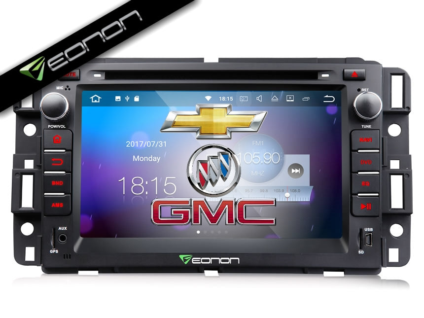 Eonon GA8180 Android 7 1 Direct Fit Head-Unit for Silverado, Express Van,  Avalanche, Acadia, Yukon & Impala: 7