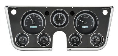 VHX-67C Chevy Pickup Dash Analog Clock / Black Face White Backlighting
