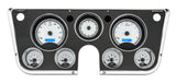 VHX-67C Chevy Pickup Dash Analog Clock / Silver Face Blue Backlighting