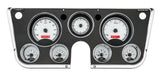 VHX-67C Chevy Pickup Dash Analog Clock / Silver Face Red Backlighting