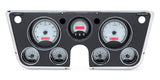 VHX-67C Chevy Pickup Dash: Digital Clock / Silver Face Red Backlighting