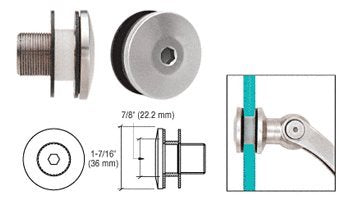 """Clear Vinyl Replacement Washer with Large Hole pack of 10 CRL 1/"""" O.D"""