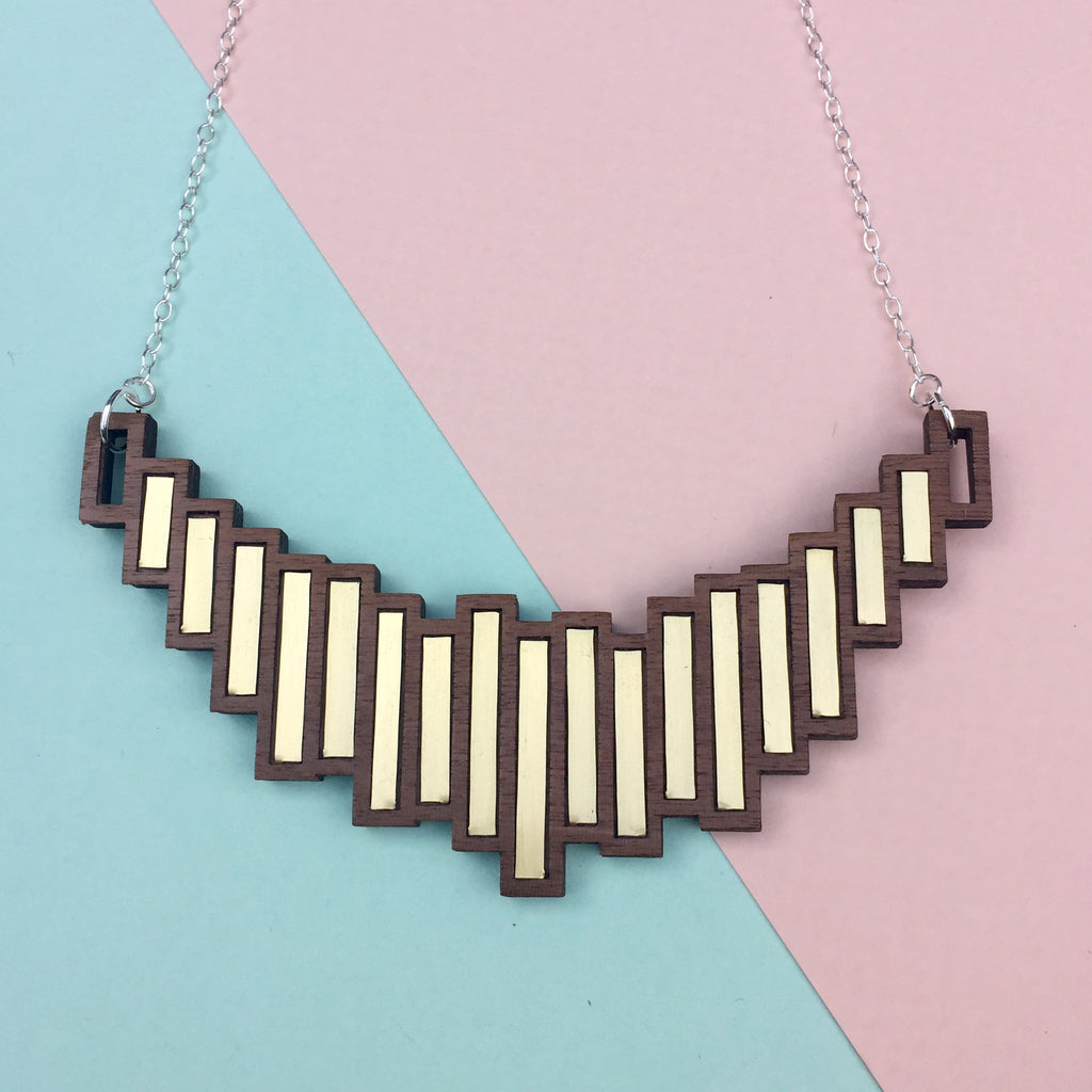 Stella Necklace Brass