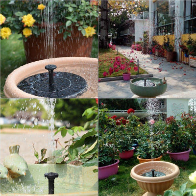 Solar Panel Water Fountain *FREE Shipping Today Only*