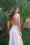 Plunging Neckline Low Back Gold Sequin Prom Dress 12134