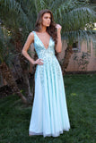 Plunging Neckline Low Back Sequin Dress Prom Dress 12134