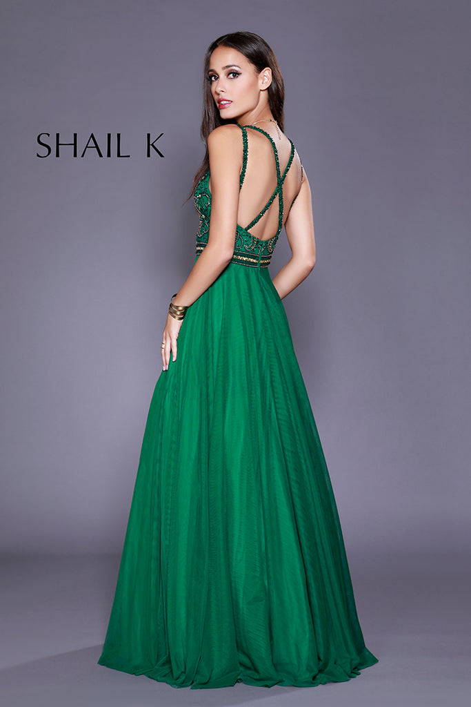 Double Strap Cross Back Fit To Flare Dress 12158 Emerald, Jewel ...