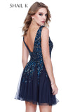 Low Neck Fit To Flare Embellished Homecoming Dress 12182