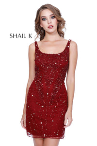 Tank Style Fully Embellished Short Cocktail Dress 12188