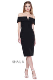 Off The Shoulder Body Hugging Pencil Style Dress 31915