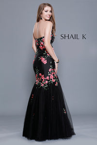 Strapless Sweetheart Floral Mermaid Style Prom Dress 33912