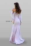 Long Sleeve Body Hugging Shoulder Cut Out Dress 33937