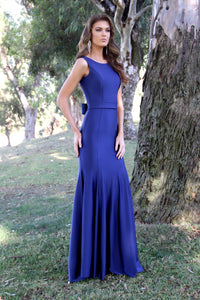 Belted Body Hugging Mermaid Style Prom Dress 33939
