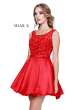 Sheer Illusion Sweetheart Embellished Fit To Flare Homecoming Dress 33947