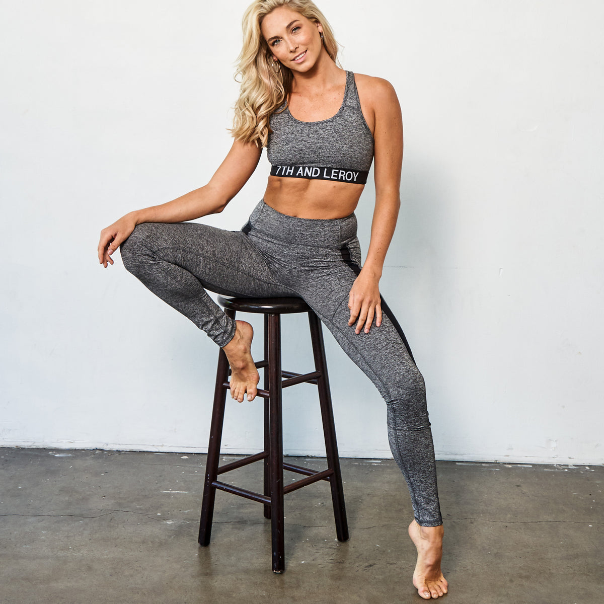Womens Legging with Mesh Panel