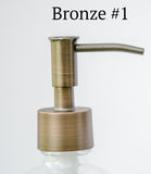bronze soap dispenser pump, one burch way