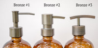 bronze soap dispenser pumps, one burch way