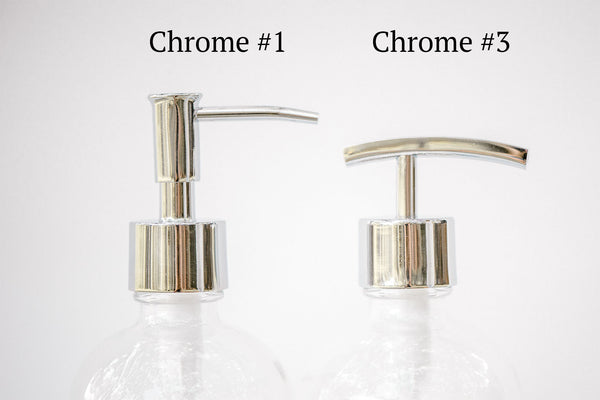 chrome replacement pump, chrome soap pump options, one burch way