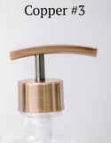 copper soap dispenser pump, bottle pump, one burch way