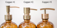 copper soap dispenser pump choices, one burch way