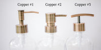 3 copper soap dispenser pump styles to choose from, one burch way
