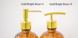 gold soap dispenser pump choices, one burch way