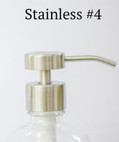 stainless soap bottle pump, one burch way