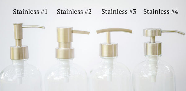 stainless replacement pump, soap dispenser pump, one burch way