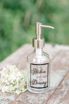 kitchen soap dispenser, 8 oz clear glass soap dispenser, kitchen was made for dancing, one burch way