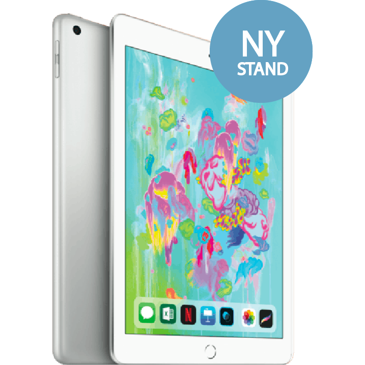 iPad 2018 6. Generation - 32 GB - Wifi - sølv (Ny stand)
