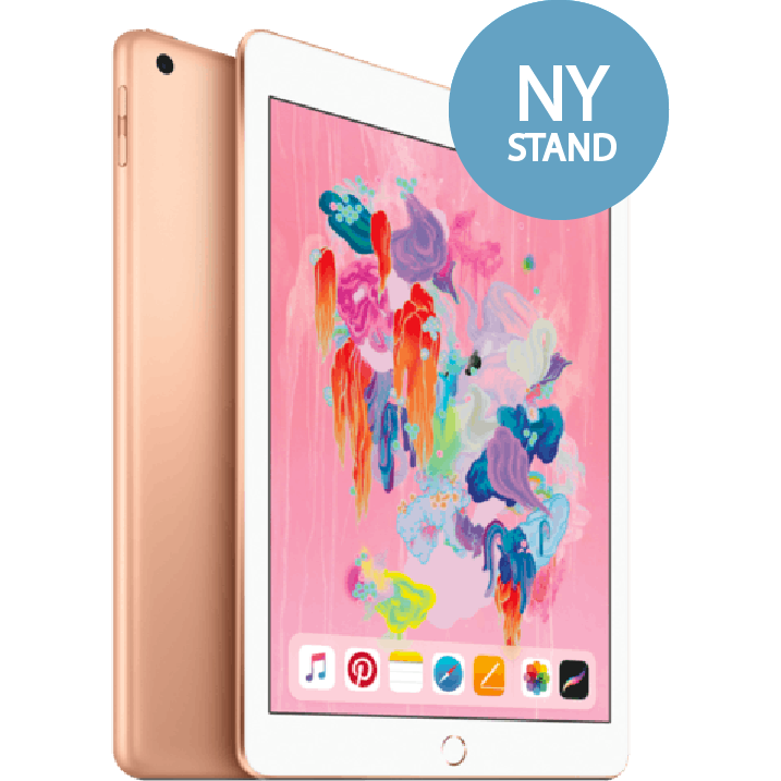iPad 2018 6. Generation - 32 GB - WIFI + Cell - Guld (Ny stand)