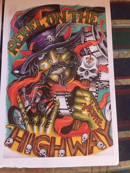 Rebel on the Highway Official Voodoo Poster