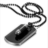 Bullet Dog Tag Necklace