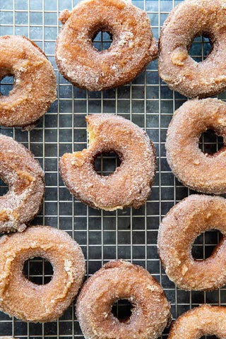 freshly made cider doughnuts