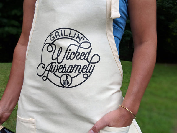 Grillin' Wicked Awesomely Apron