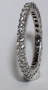 14 Karat White Gold Eternity Band