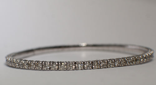 14 Karat White Gold Diamond Flex Bracelet
