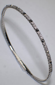 14 Karat White gold Half Way Flex Bracelet