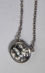 18 Karat White Gold w/ platinum chain
