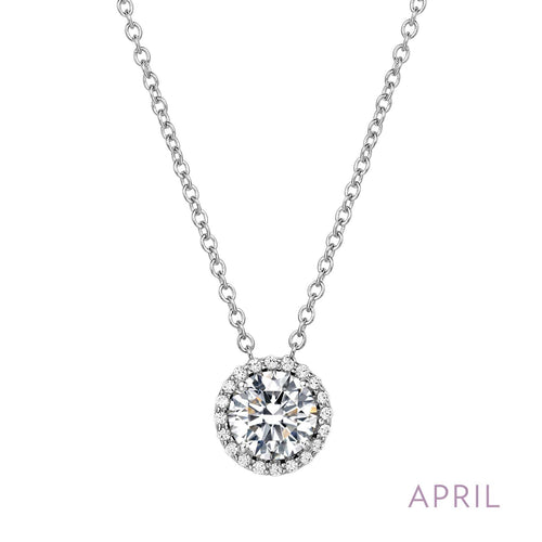 April Birthstone Necklace