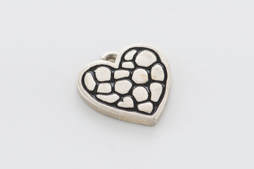 Heart Charm, Sterling Silver