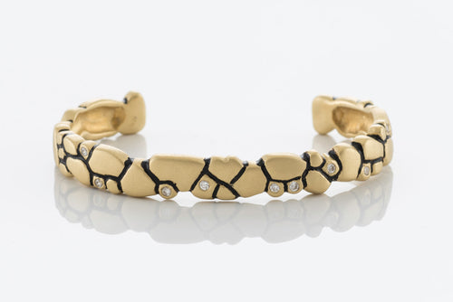 Bracelet 18K Yellow Gold with 10 Diamonds